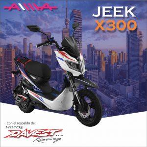 10 Jeek x300 AIMA Peru - Motos Electricas Peru