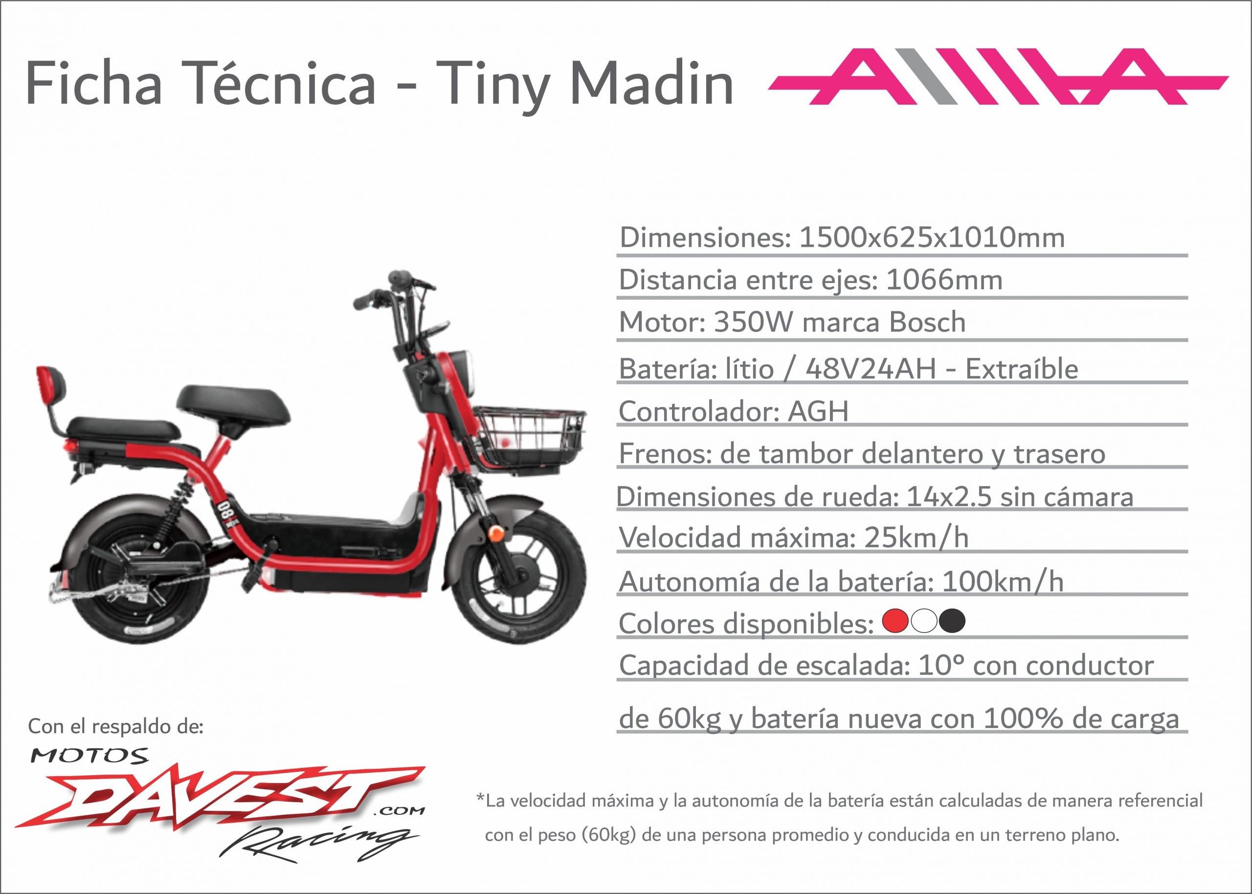 6 Ficha tecnica Tiny Madin scaled AIMA Peru - Motos Electricas Peru